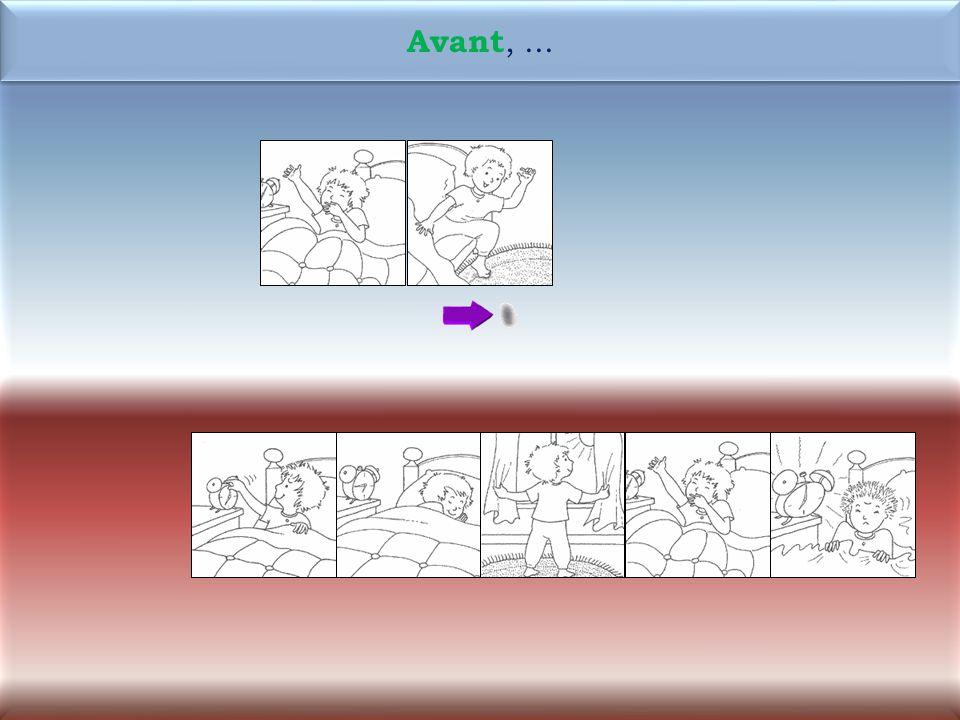 43 1M Maintenant, Antoine écrit ladresse sur lenveloppe.