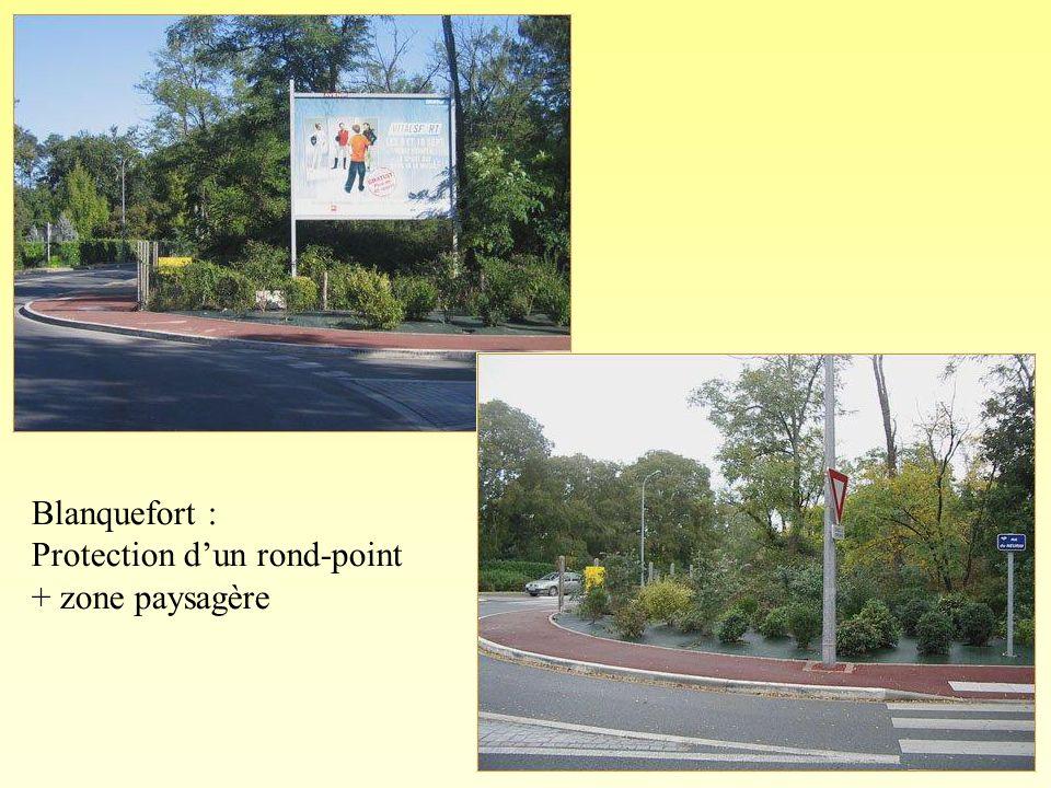 Blanquefort : Protection dun rond-point + zone paysagère