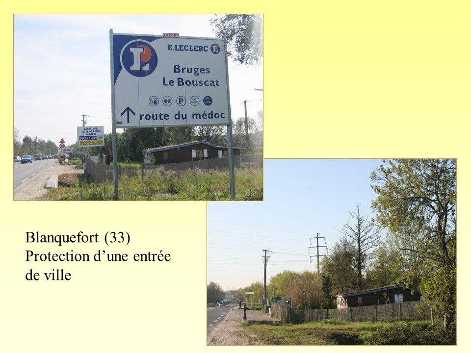 Blanquefort (33) Protection dune entrée de ville