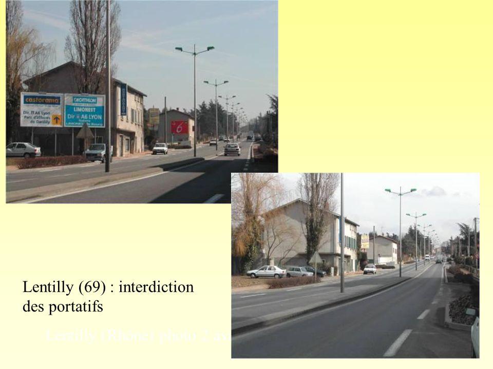 Ce que les règlements imposent Un espace minimum entre deux panneaux Cadre & Cité