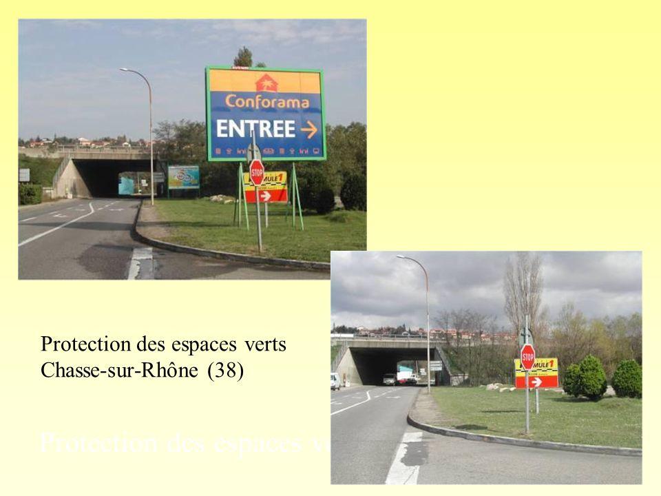 Protection des espaces verts : avant application Chasse-sur-Rhône (38) Protection des espaces verts Chasse-sur-Rhône (38)
