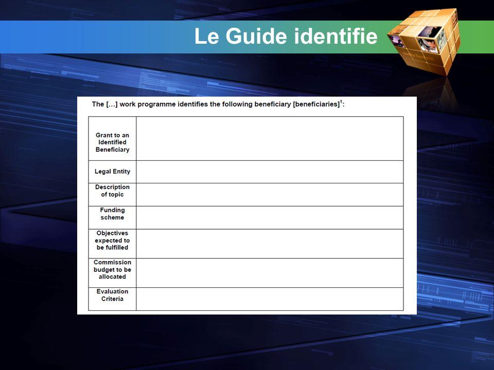 Le Guide identifie