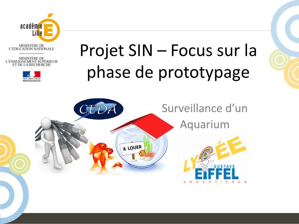 Projet SIN – Focus sur la phase de prototypage Surveillance dun Aquarium