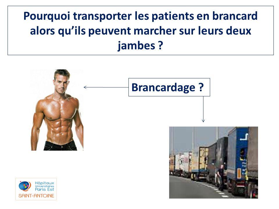 Pourquoi transporter les patients en brancard alors quils peuvent marcher sur leurs deux jambes ? Brancardage ?