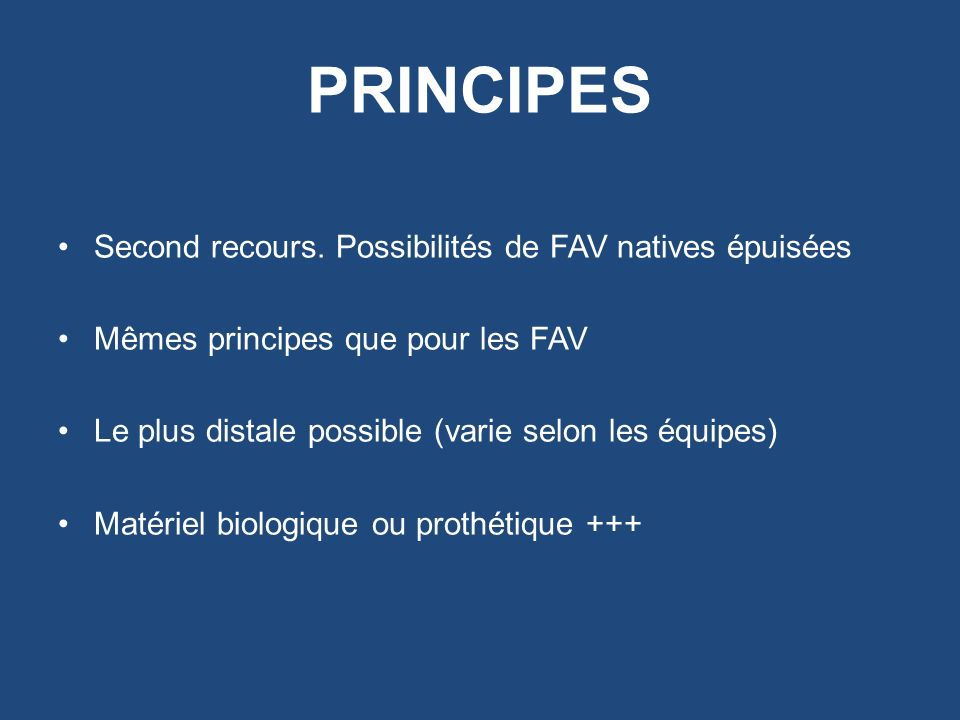 PRINCIPES Second recours.