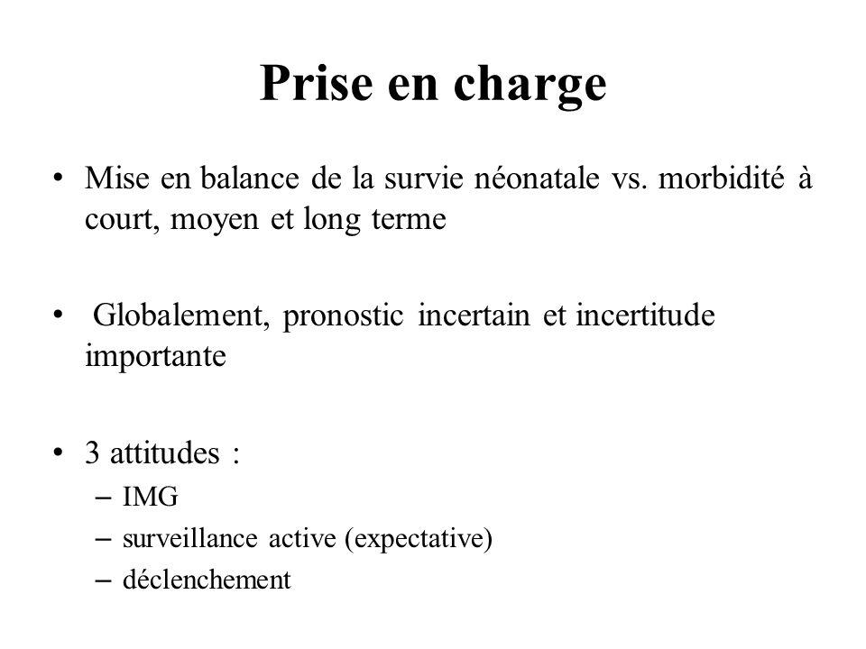 Prise en charge Mise en balance de la survie néonatale vs.