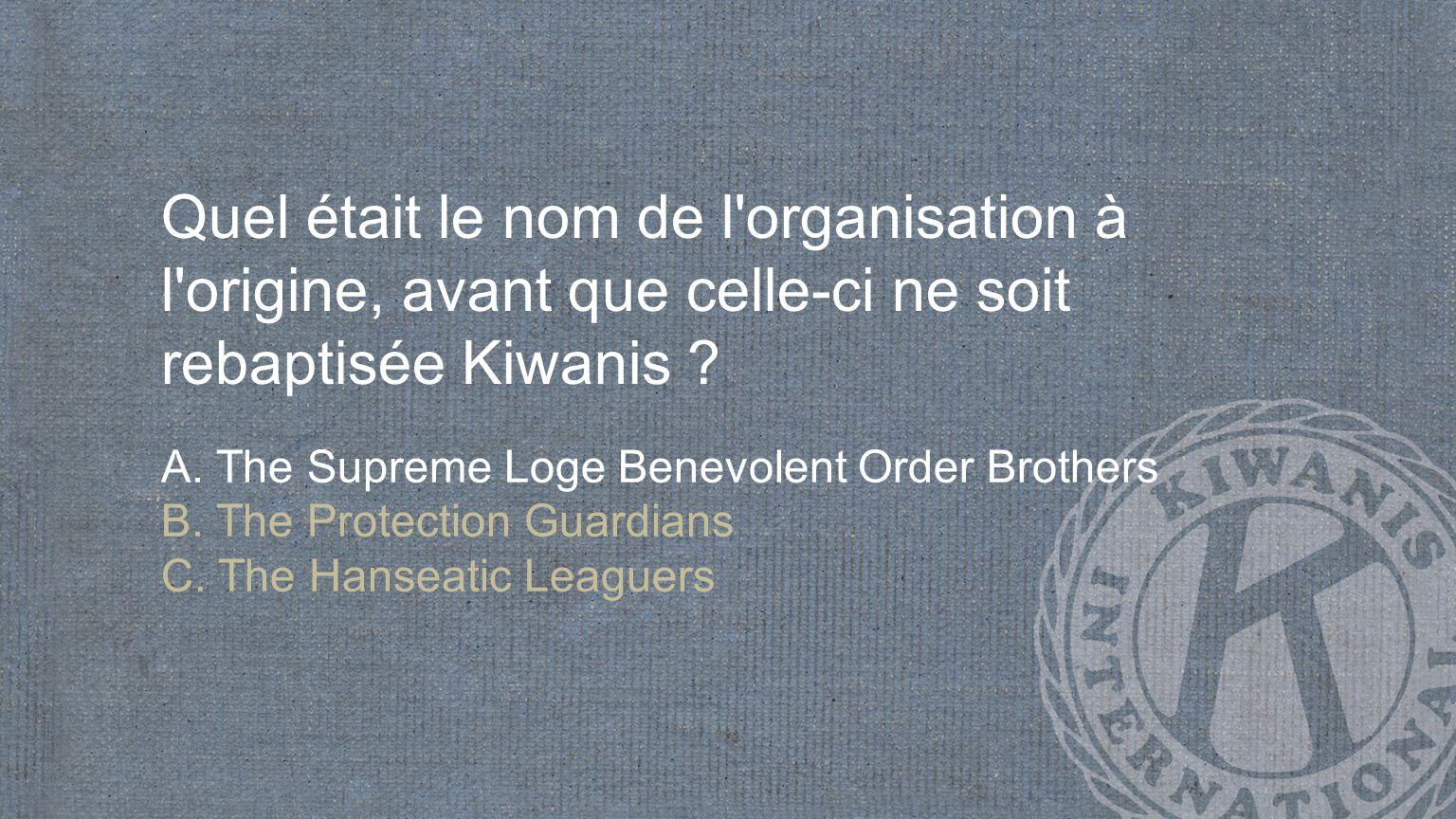 En quelle année l organisation s est-elle fixé comme objectif le service, plutôt que la constitution de réseaux d affaires .
