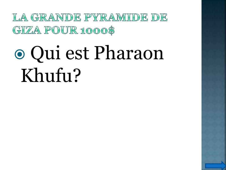 Qui est Pharaon Khufu?