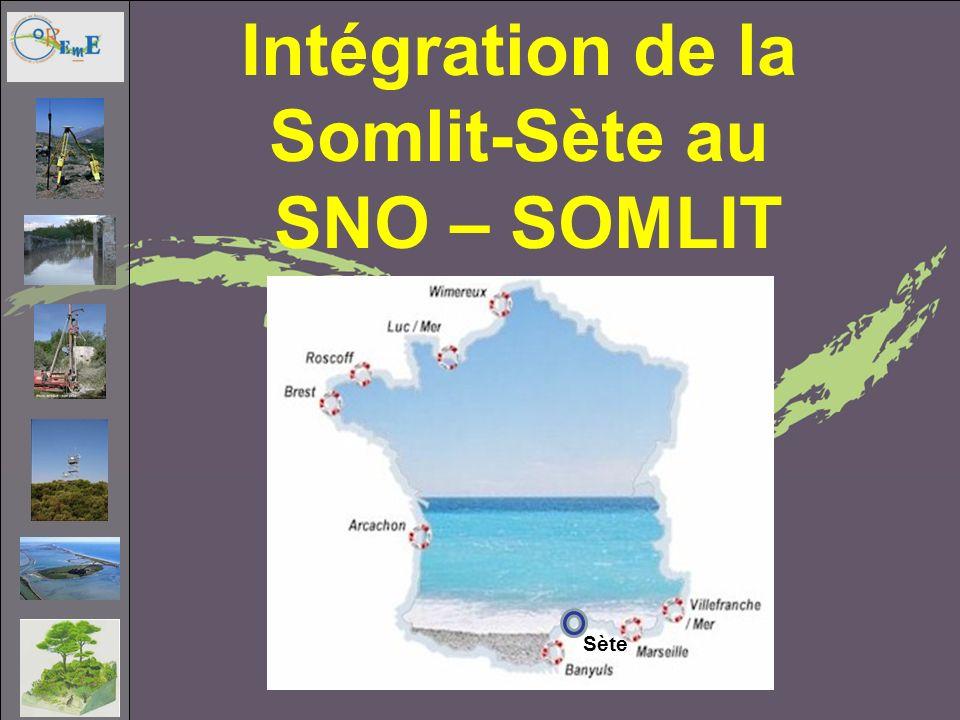Sète Intégration de la Somlit-Sète au SNO – SOMLIT