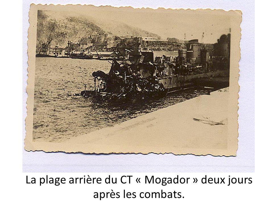 La plage arrière du CT « Mogador » deux jours après les combats.