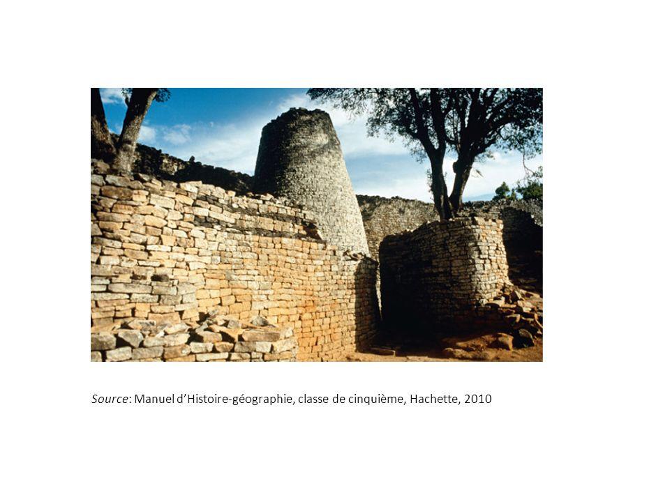 Source: Manuel dHistoire-géographie, classe de cinquième, Hachette, 2010