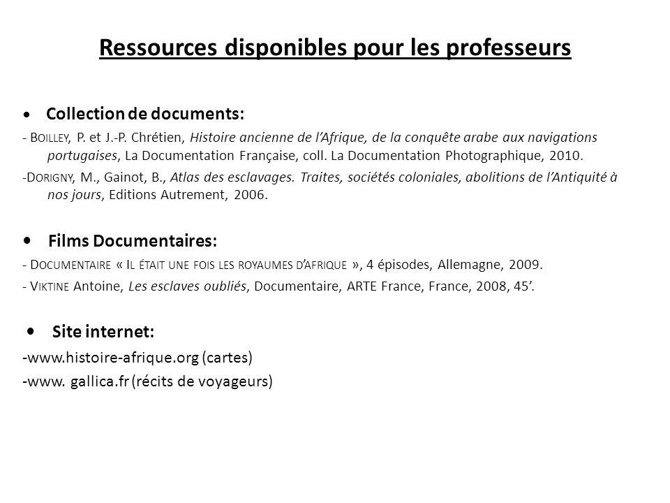 Ressources disponibles pour les professeurs Collection de documents: - B OILLEY, P.
