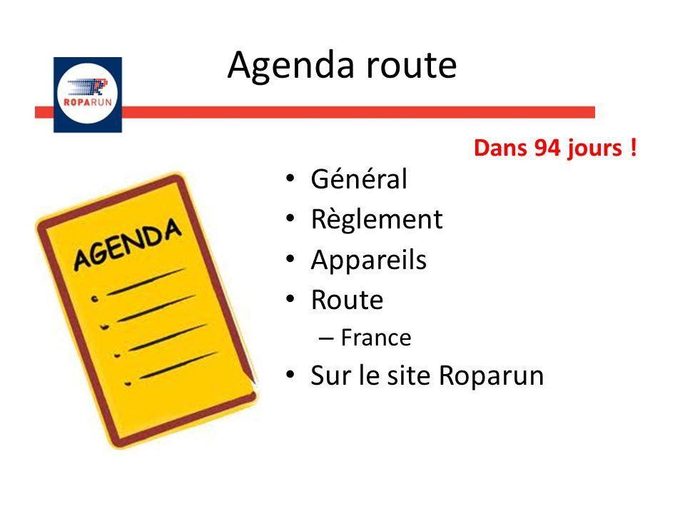 Agenda route Général Règlement Appareils Route – France Sur le site Roparun Dans 94 jours !