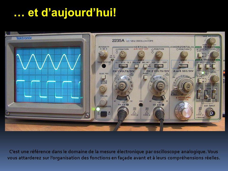 … et daujourdhui! Cest une référence dans le domaine de la mesure électronique par oscilloscope analogique. Vous vous attarderez sur lorganisation des
