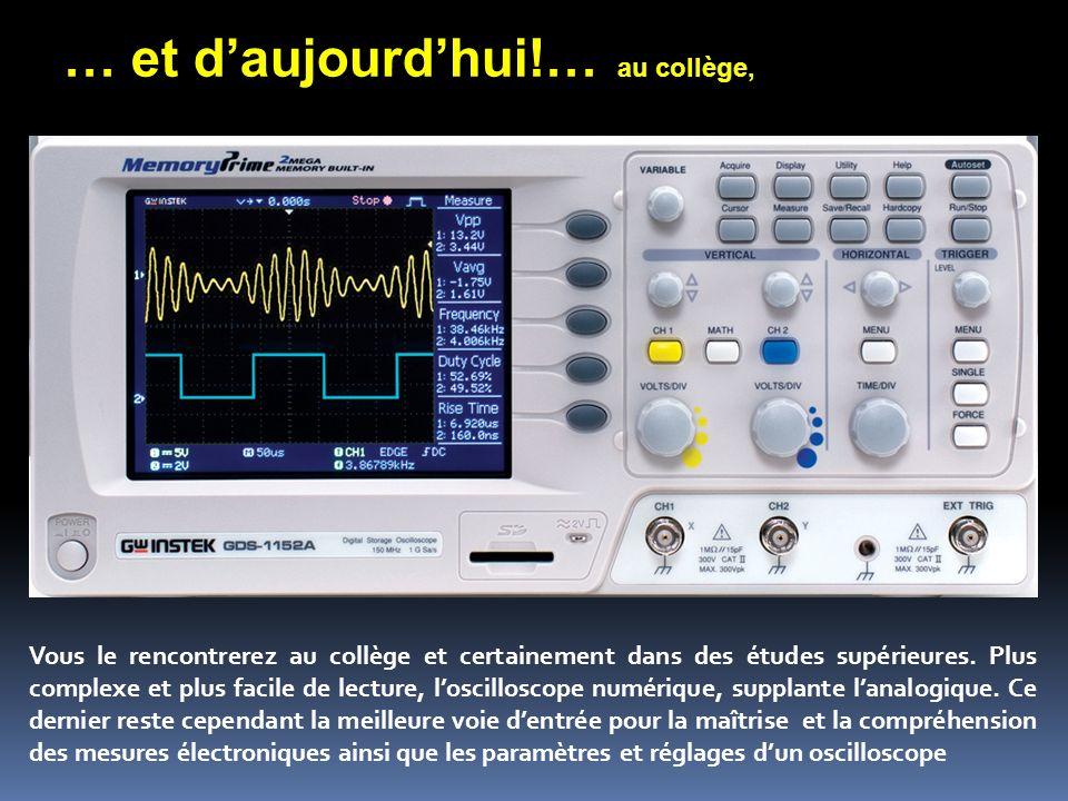 Principe et schéma Analysez très attentivement ce schéma pour comprendre le fonctionnement dun oscilloscope analogique ou numérique.