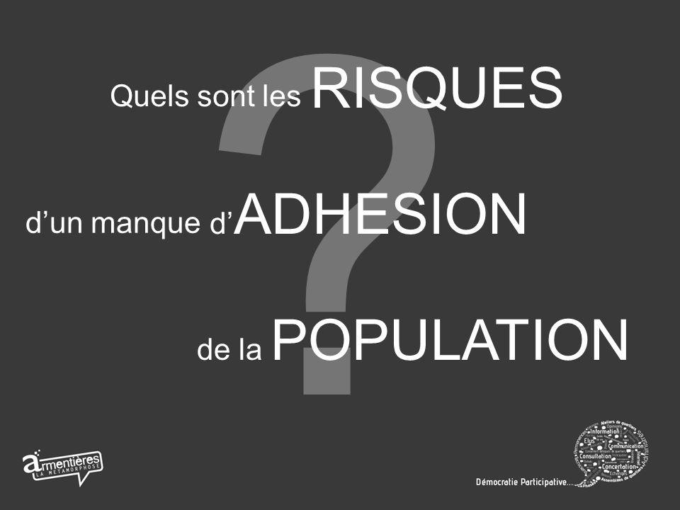 Quels sont les RISQUES dun manque d ADHESION de la POPULATION