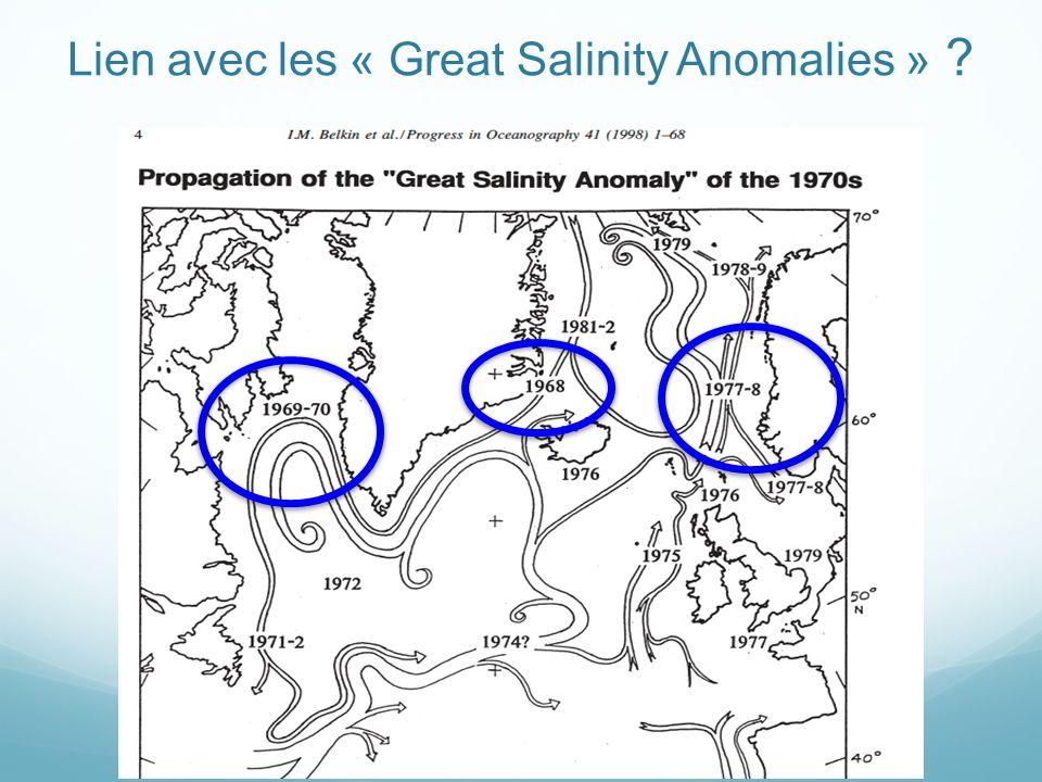 Lien avec les « Great Salinity Anomalies » ?