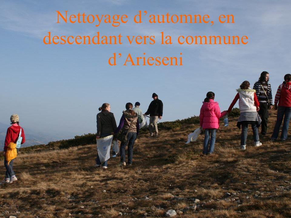 Nettoyage dautomne, en descendant vers la commune dArieseni
