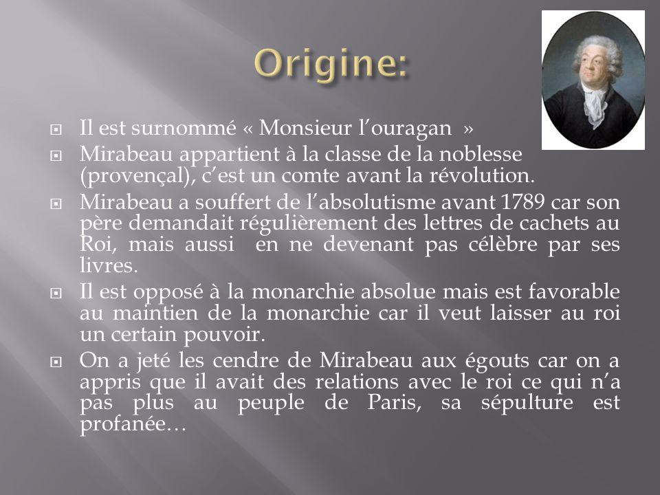 Il est écrivain et dénonce labsolutisme mais ne sera reconnu quà la Révolution.