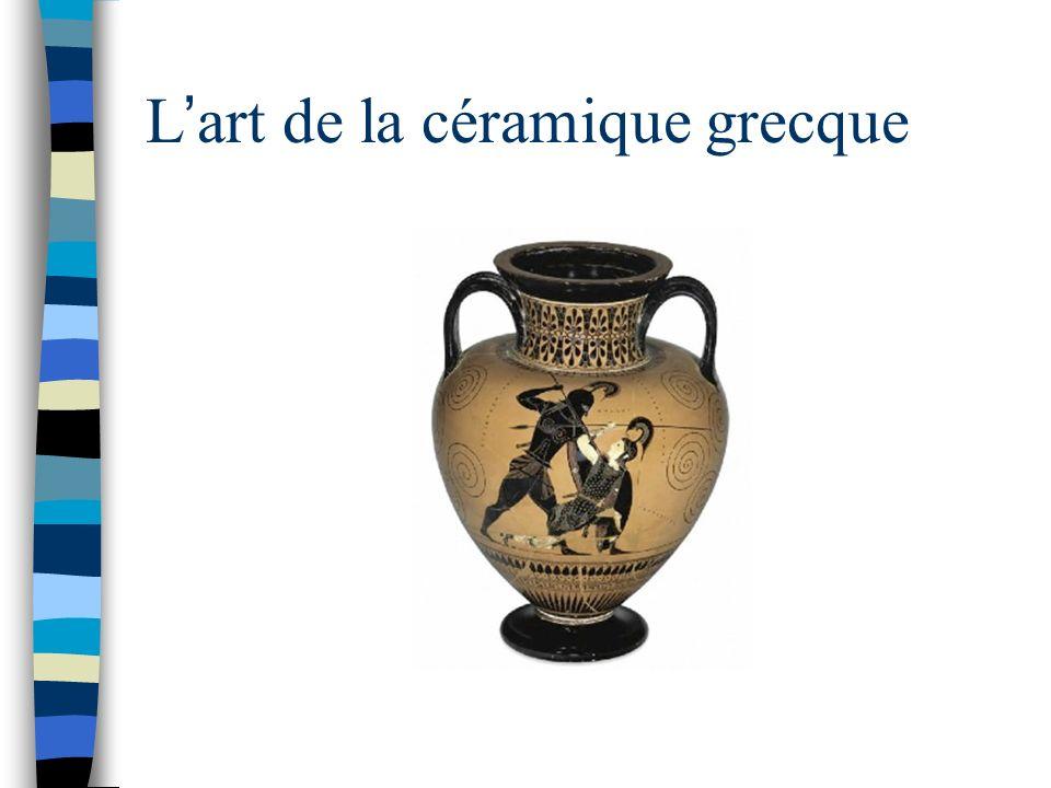 Dieux et héros grecs sur des céramiques Créer un petit dossier documentaire.