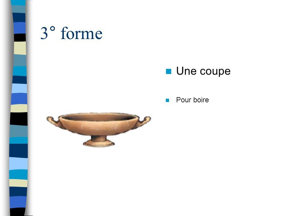 3° forme Une coupe Pour boire