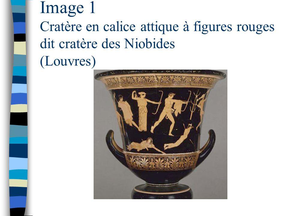 Image 1 Cratère en calice attique à figures rouges dit cratère des Niobides (Louvres)