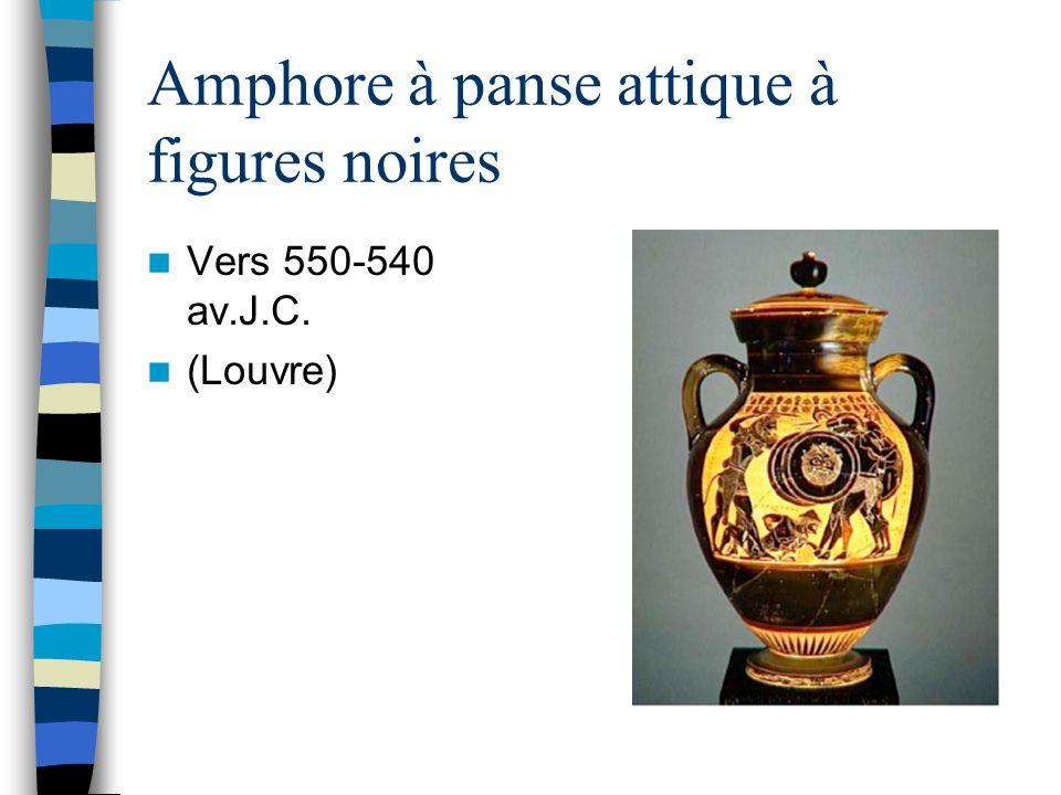 Amphore à panse attique à figures noires Vers 550-540 av.J.C. (Louvre)