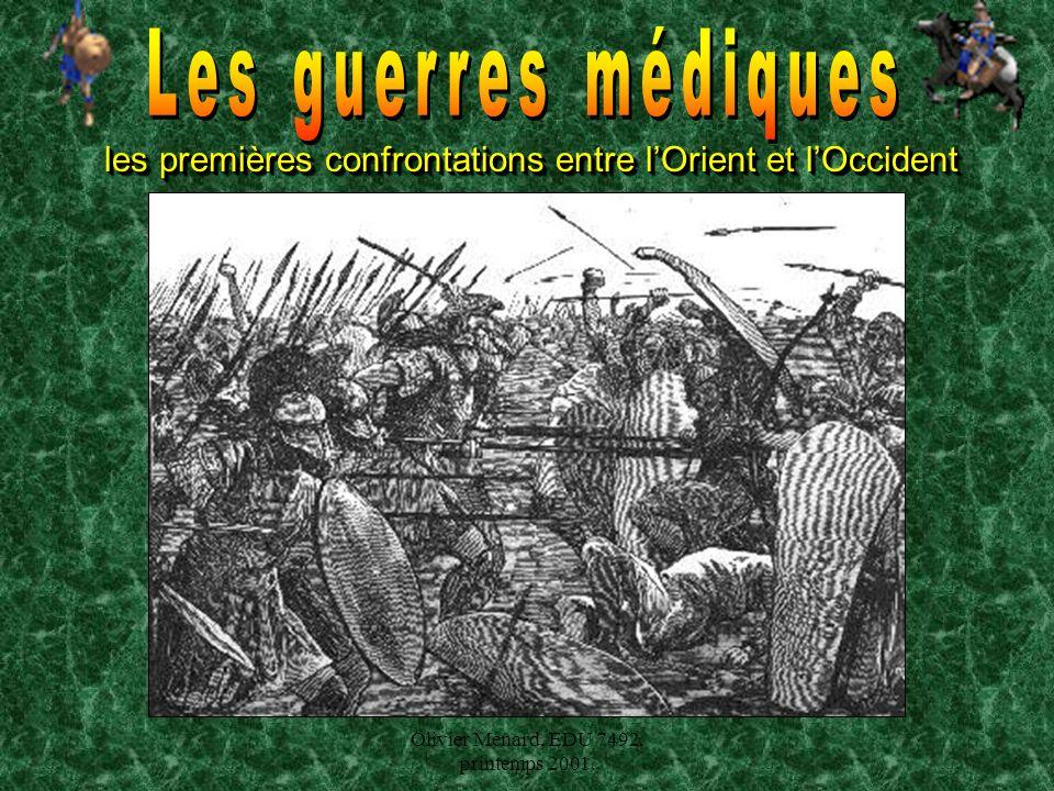 Olivier Ménard, EDU 7492, printemps 2001. les premières confrontations entre lOrient et lOccident