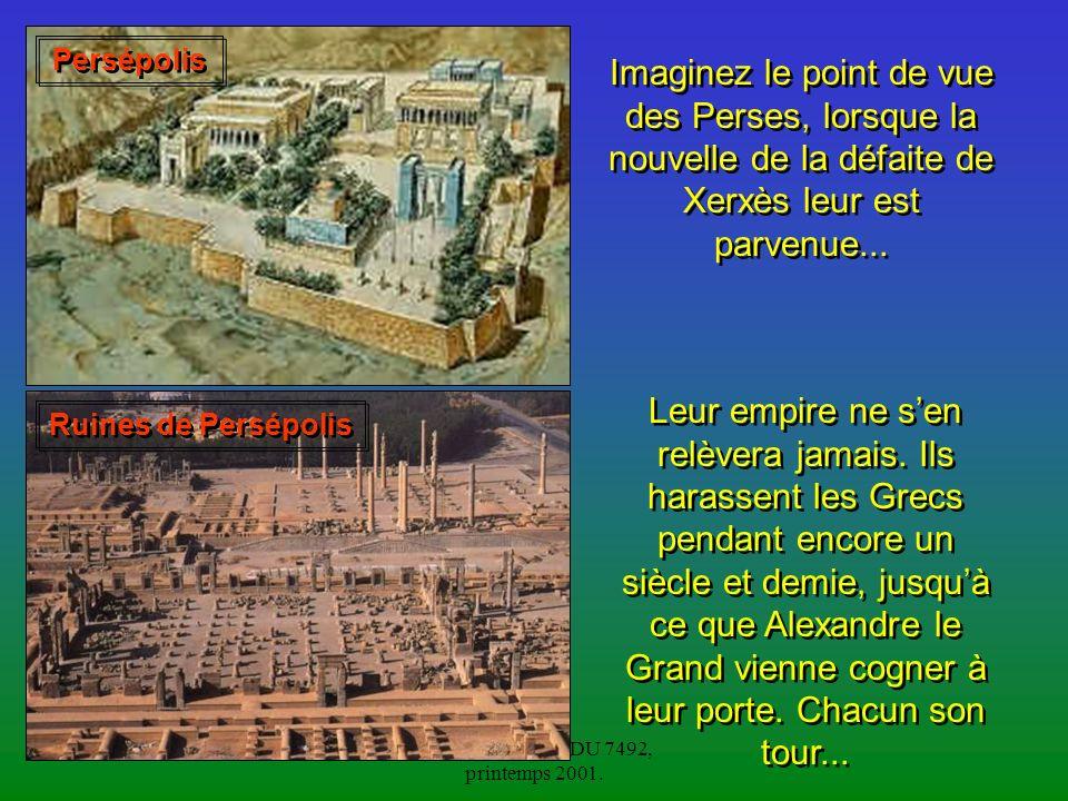 Olivier Ménard, EDU 7492, printemps 2001.Quant aux Grecs, ils sont toujours divisés.