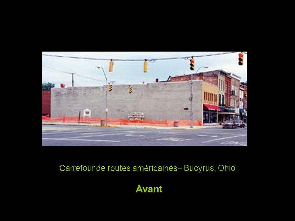 Carrefour de routes américaines– Bucyrus, Ohio Avant