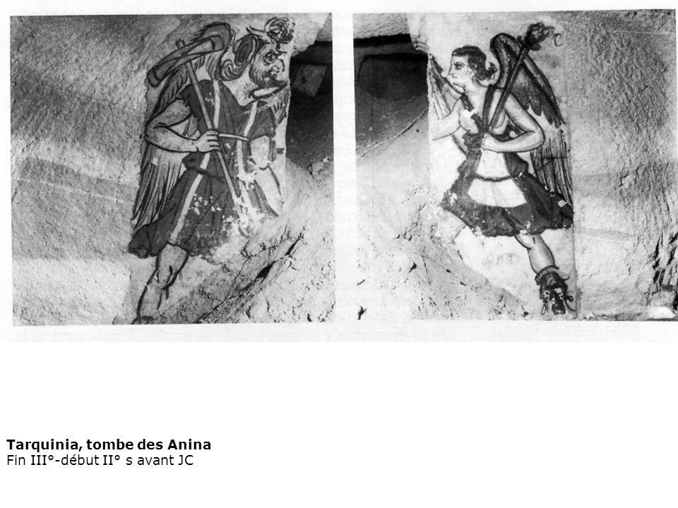 Tarquinia, tombe des Anina Fin III°-début II° s avant JC