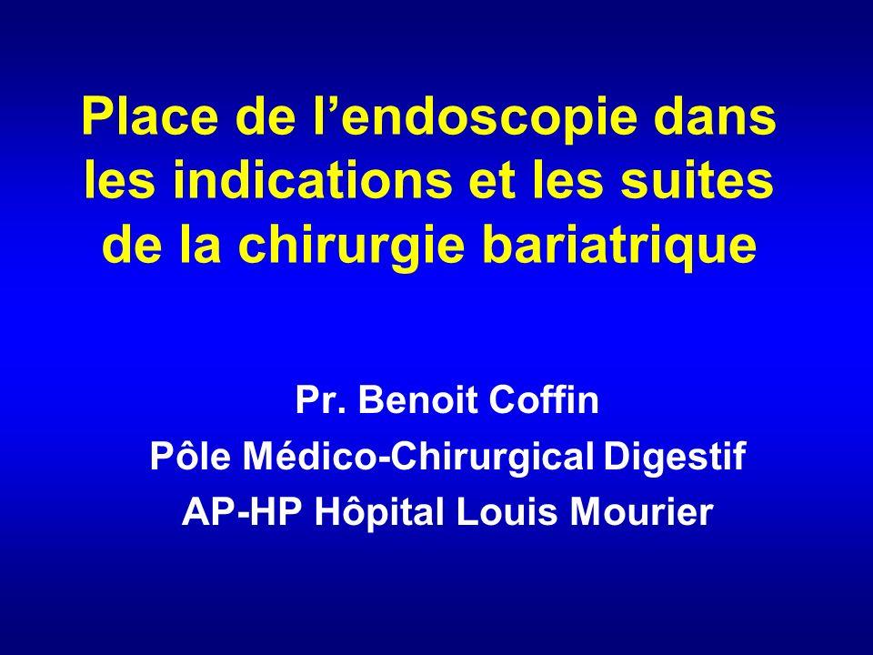 Place de lendoscopie dans les indications et les suites de la chirurgie bariatrique Pr.