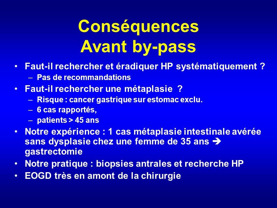 Conséquences Avant by-pass Faut-il rechercher et éradiquer HP systématiquement .
