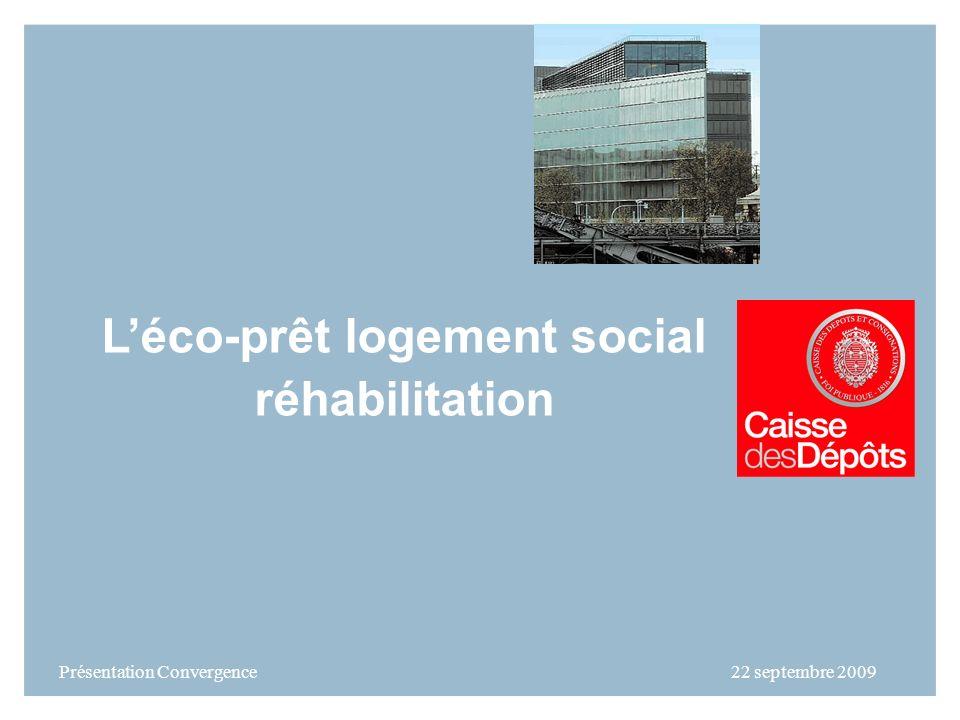 Léco-prêt logement social réhabilitation Présentation Convergence 22 septembre 2009