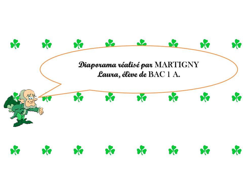 Diaporama réalisé par MARTIGNY Laura, élève de BAC 1 A.