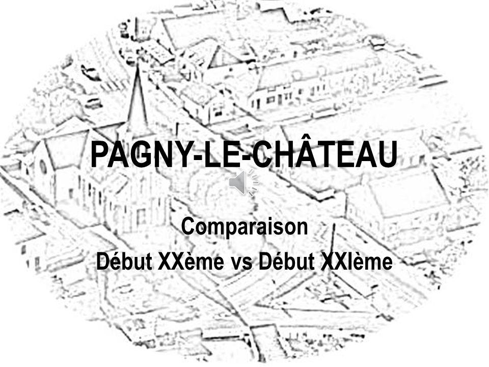 Carte des rues concernées PAGNY-LE-CHÂTEAU : AVANT ET APRES 2