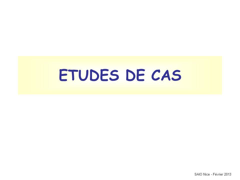 SAIO Nice - Février 2013 ETUDES DE CAS