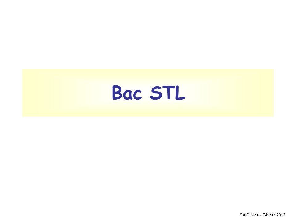 SAIO Nice - Février 2013 Bac STL
