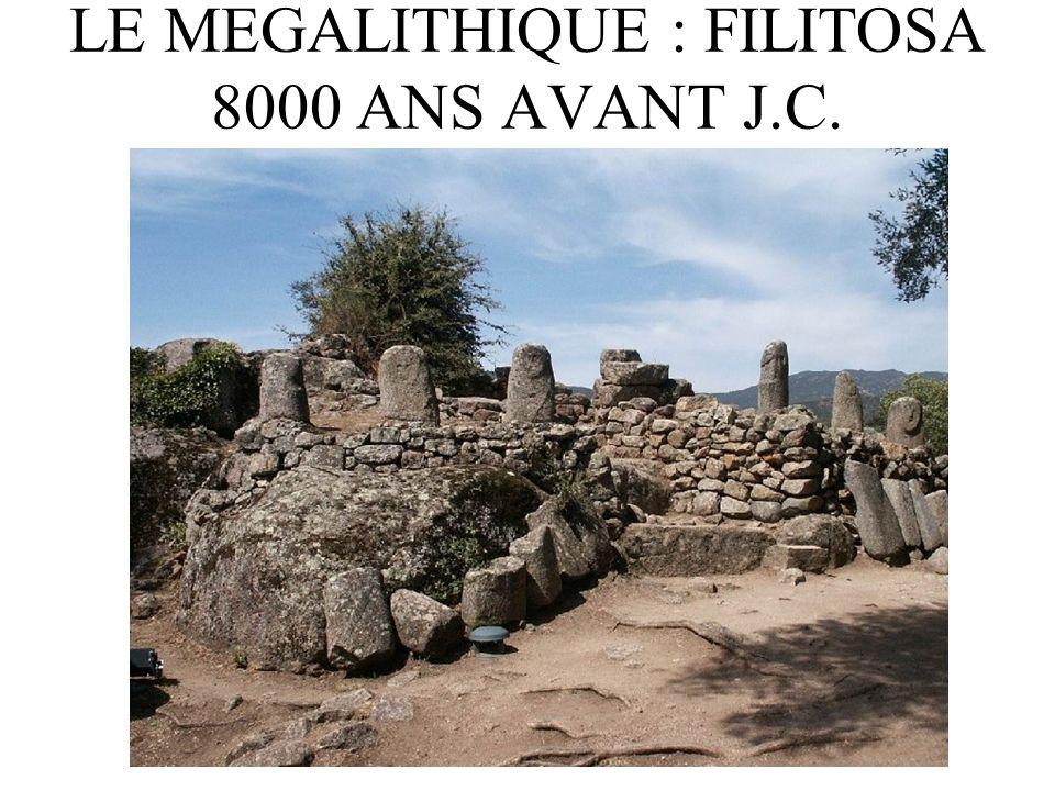 LE MEGALITHIQUE : FILITOSA 8000 ANS AVANT J.C.