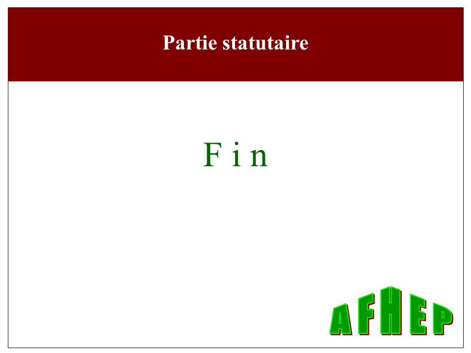 Partie statutaire F i n