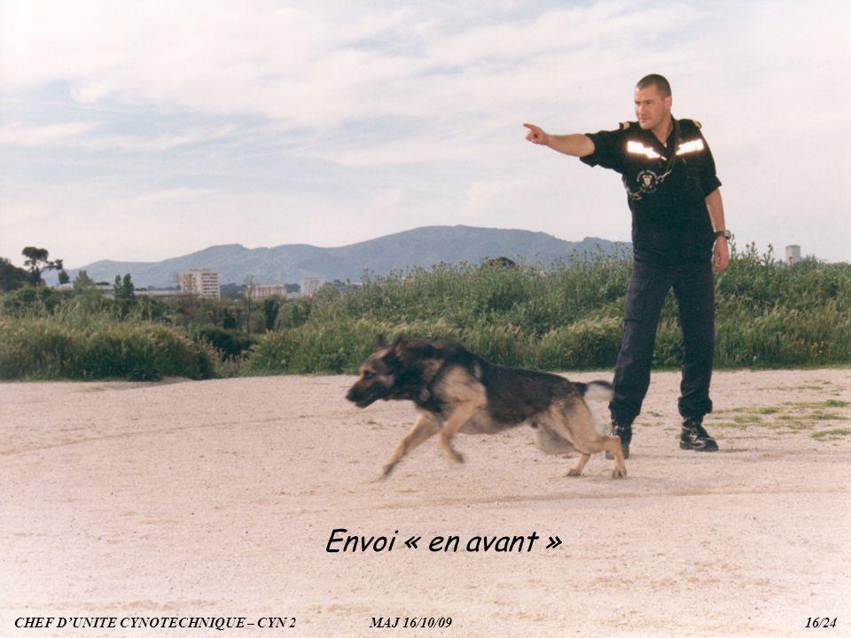 Envoi « en avant » CHEF DUNITE CYNOTECHNIQUE – CYN 2 MAJ 16/10/09 16/24