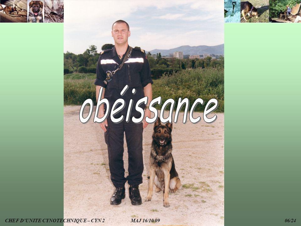 CHEF DUNITE CYNOTECHNIQUE – CYN 2 MAJ 16/10/09 06/24