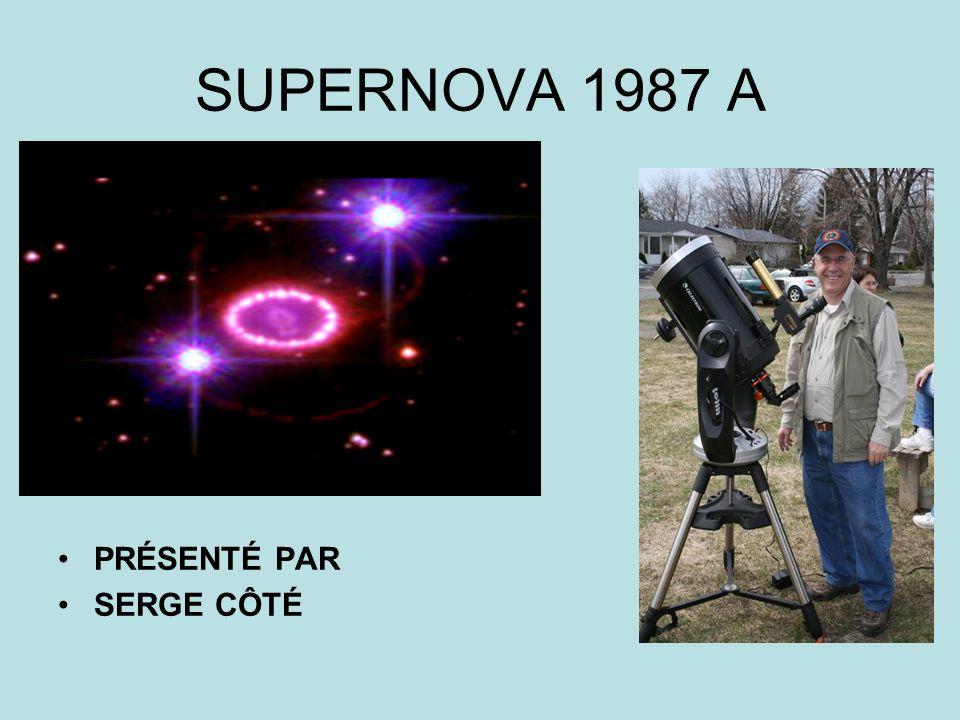 SUPERNOVA 1987 A PRÉSENTÉ PAR SERGE CÔTÉ