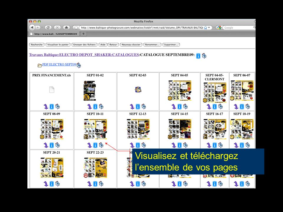 Visualisez et téléchargez lensemble de vos pages
