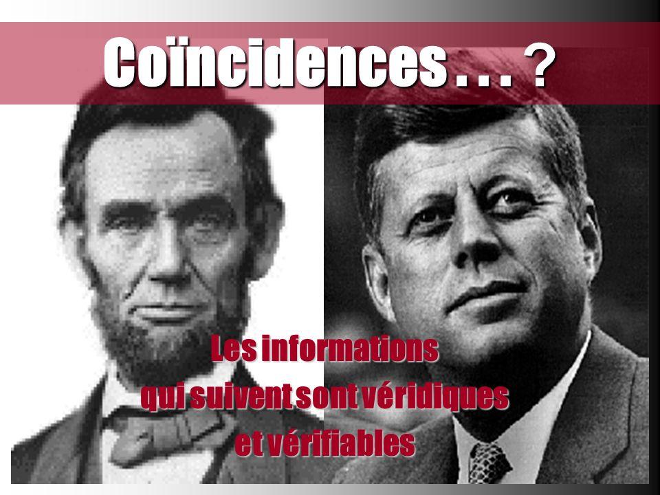 Coïncidences... ? Les informations qui suivent sont véridiques et vérifiables
