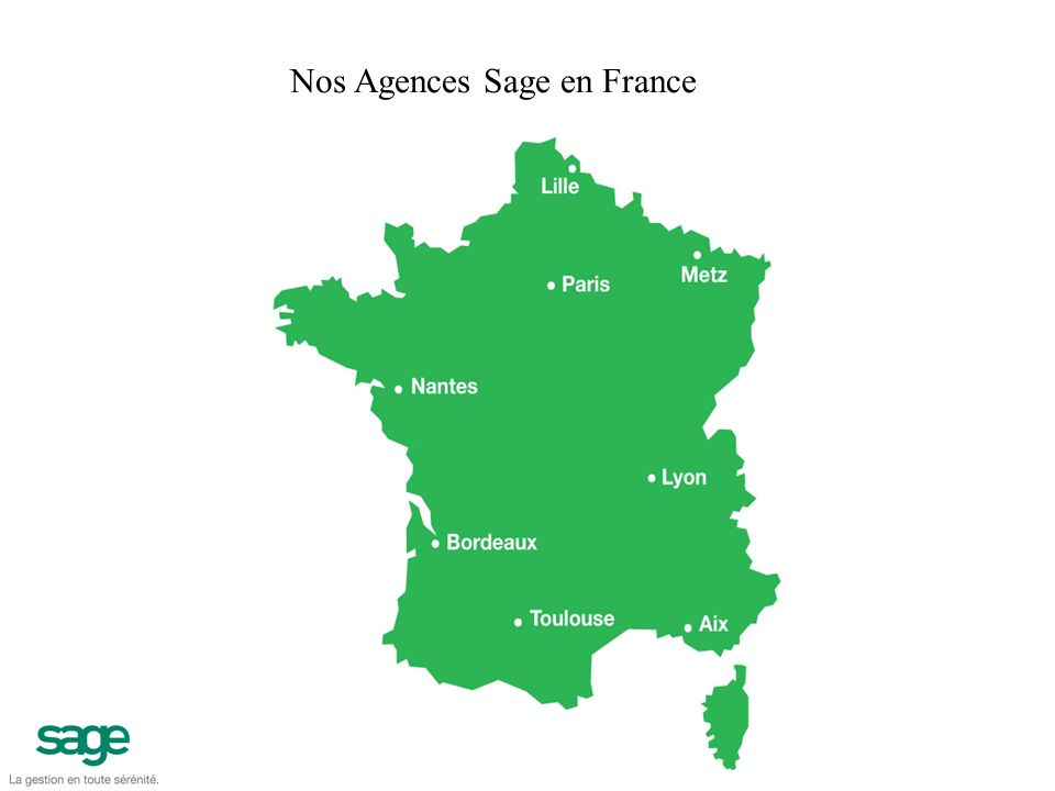 Sage Paris Immeuble le Colisée II 10 rue Fructidor 75834 PARIS Cedex 17 Tel.