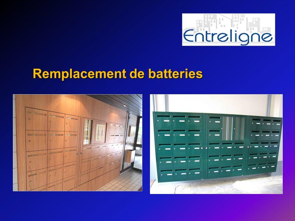 Remplacement de batteries