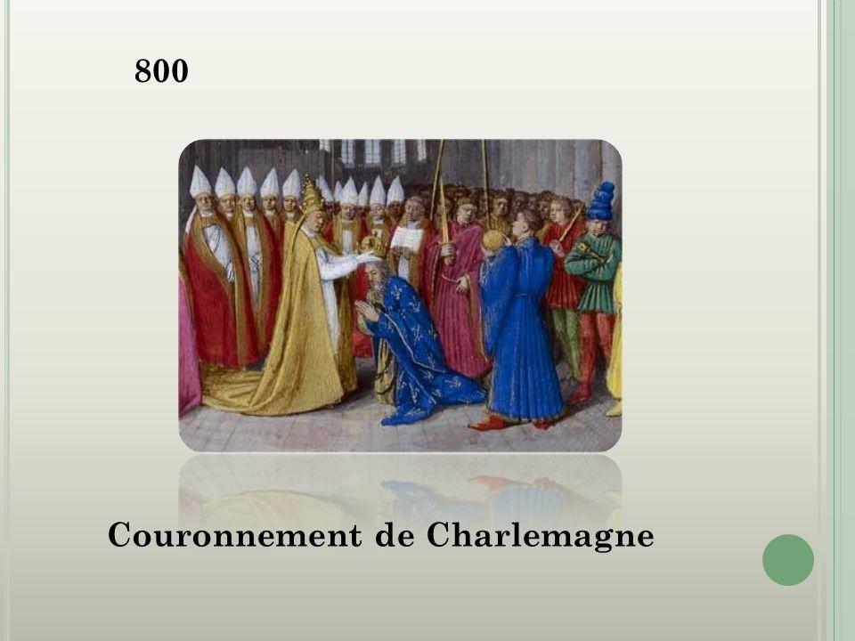 800 Couronnement de Charlemagne