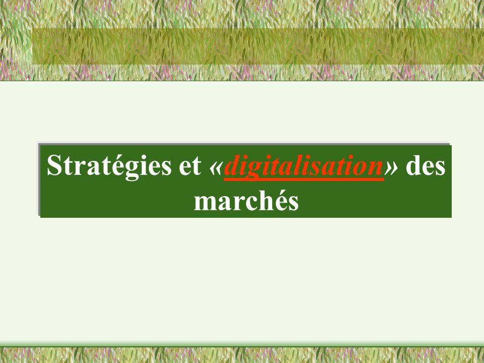 Stratégies et «digitalisation» des marchés