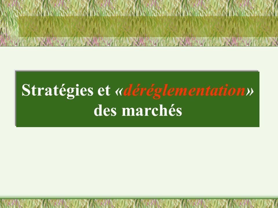 Stratégies et «déréglementation» des marchés